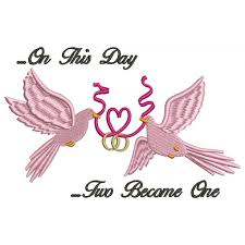 wedding ribbon doves holding a heart ribbon wedding rings filled machine embroidery digitized design pattern 700x700 jpg