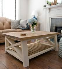 Pine Side Tables Living Room Gorgeous Light Wood And Paint Farmhouse Style Coffee Table