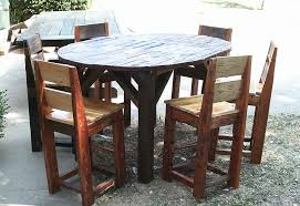 Rustic Bistro Table And Chairs The Adorable Of Rustic Pub Table Sets Tedx Decors