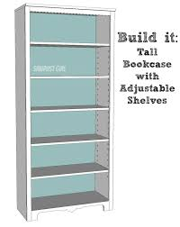 Furniture Plans Bookcase Free by Best 25 Tall Bookshelves Ideas On Pinterest Library Bookshelves