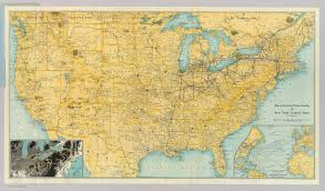 Us New York Map by U S Showing Ny Central Lines David Rumsey Historical Map