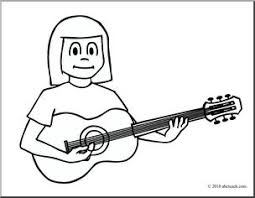 large guitar coloring page clip art girl playing guitar coloring page i abcteach com abcteach