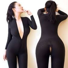 bodysuit jumpsuit striped sheer bodysuit romper smooth fiber 2 zipper