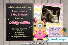minion baby baby shower invitation