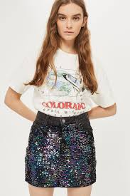sequin skirt moto sequin denim mini skirt topshop usa