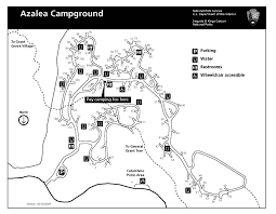 Valley Of Fire State Park Map by Azalea Campground Sequoia U0026 Kings Canyon National Parks U S