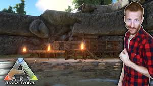 base building at the stunning hidden lake ark survival evolved