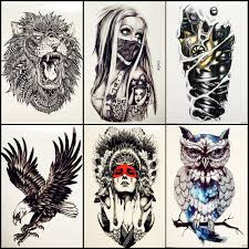 6 pieces lot with mask temporary tattoos indian tribal