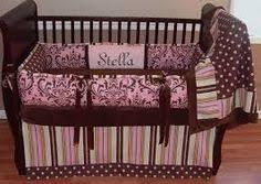 Pink And Brown Damask Crib Bedding Pink And Chocolate Damask Baby Bedding This Custom Baby Crib