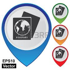 bureau immigration colorful map pointer icon with official place immigration bureau