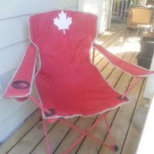 Camping Lounge Chair Best Canada Day 150 Fold Up Camp Lounge Chair With Built In Cup