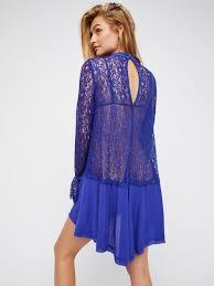 free people secret origins pieced lace tunic in blue lyst