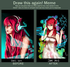 Draw This Again Meme Template - draw this again meme neo magenta by fleetingthunderblade on
