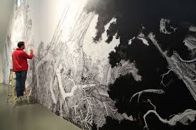 a sprawling wall sized mural drawn with only a black sharpie by a sprawling wall sized mural drawn with only a black sharpie by sean sullivan murals drawing exquisite drawings pinterest sean sullivan black sharpie