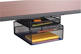 Office Desk Storage Safco Products 3244bl Onyx Mesh Mountable Hanging