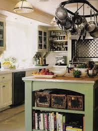 green kitchen cabinets with white island green island kitchen