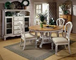 hillsdale wilshire round dining collection antique white hd