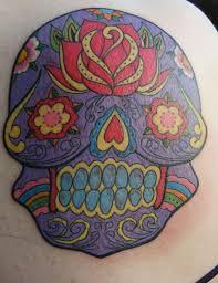 colour day of the dead sugar skull
