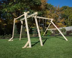 free standing swing set and monkey bars