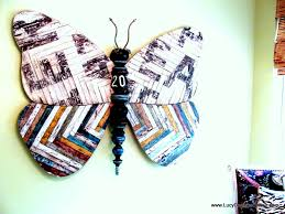 large 5ft mixed media butterfly with reclaimed wood and