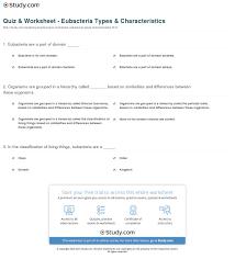 quiz u0026 worksheet eubacteria types u0026 characteristics study com