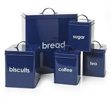 blue kitchen canister set navy blue tea coffee sugar canisters 3 kitchen canister set