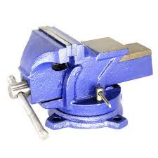 heavy duty bench vise forged 360 swivel base with lock anvil