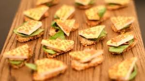 and easy canapes best cheese canapes recipes food uk