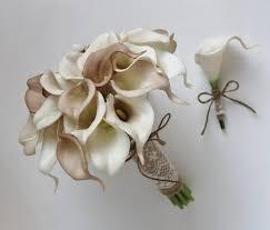 calla lilies bouquet wedding bouquet bridal bouquet ivory beige calla bouquet