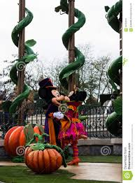 disneyland paris characters during the halloween show editorial