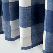 blue gingham check curtains unusual amazon com navy white kitchen