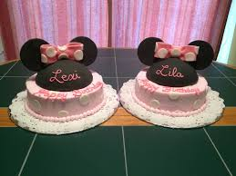 minnie birthday cakes for 3 year old twins cakecentral com