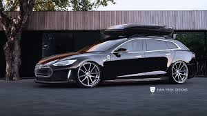 tesla model r tesla model s wagon gets rendered