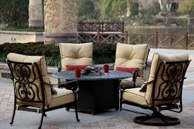 elegant fire pit sets with seating patio furniture deep seating fire