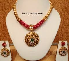 jewelry designs necklace sets images Antique gold necklace set jewellery designs jpg