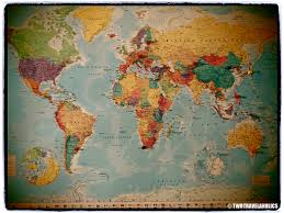 Map With Pins Rtw Diary Family Adventure