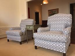 club chairs covered in robert allen by j u0026 y upholstery in park