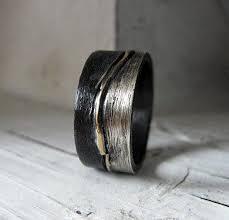 black gold mens wedding band size 10 mens wedding band mens wedding ring silver gold ring