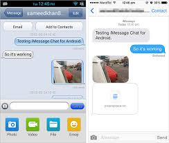 imessage chat apk unofficial imessage app for android available for