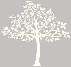 white tree wall decor ideas silhouette contemporary white tree wall