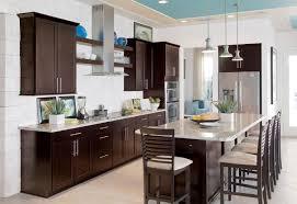 Kitchen  Kitchen Colors With Dark Brown Cabinets Window - Brown cabinets kitchen