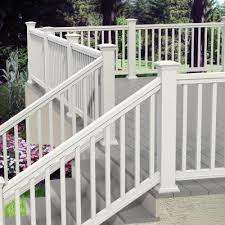 6 ft x 36 in white pro rail stair kit stair kits verandas and