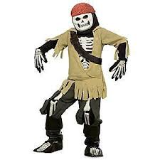 Pirates Caribbean Halloween Costume Nwt Disney Store Boney Jack Sparrow Pirates Caribbean Skeleton