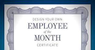 employee of the month certificate template sogol co