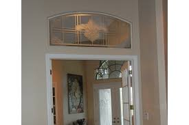 French Doors With Transom - etched glass transom to match the front doors the glass door store