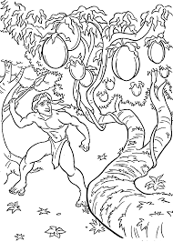 tarzan and fruits coloring pages for kids printable free