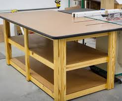 Woodworking Bench Top Material by Build A Workbench Table Saw Outfeed Table 15 Steps With Pictures