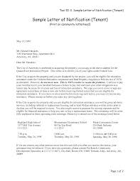 Letter Of Intent For Commercial Lease Sample by Thirty Day Notice Of Resident Intent To Vacate Notice Letter Of