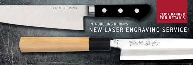 custom japanese kitchen knives custom engraving korin