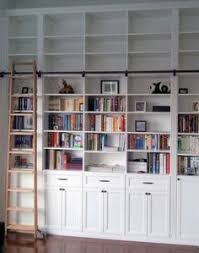 Library Bookcases With Ladder Creating A Home Library That U0027s Smart And Pretty House Book